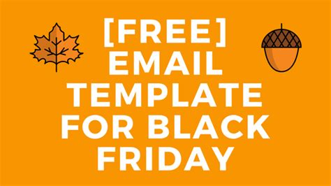 Free Email Template Black Friday Read The Smartmail Blog Black Friday Email Template