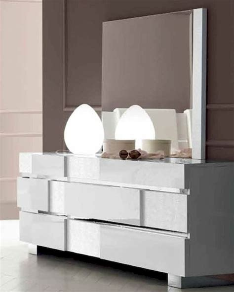 Modern Bedroom Vanity With Mirror by Status Caprice Dresser And Mirror In Modern Style 33190sc