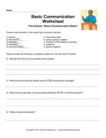basic communication worksheet instant worksheets