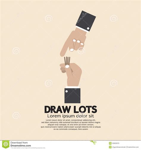 draw lots program draw lots risk taking concept stock vector image 50922870