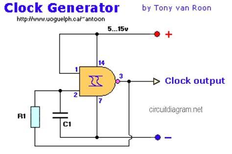 clock generator circuit diagram electronic circuit diagram page 30 of 55 schematic