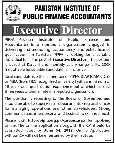 Institute Of Accountants Mba by Pakistan Institute Of Finance Accountants Pipfa