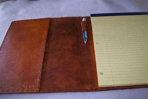Handmade Leather Portfolio - buy a crafted custom leather portfolio with
