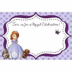 sofia the blank for you to fill in use for invitation thank you card and more