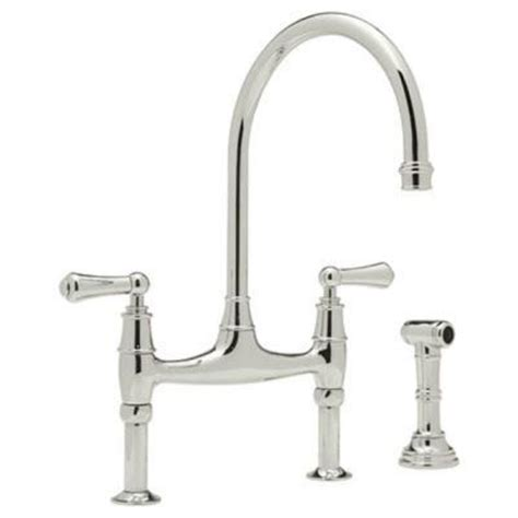 how to open kitchen faucet rohl perrin and rowe 2 handle bridge kitchen faucet in
