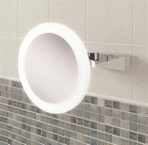 illuminated magnifying bathroom mirrors hib libra led illuminated magnifying mirror 21400