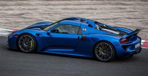 porsche 918 spyder blue blue porsche 918 spyder cars