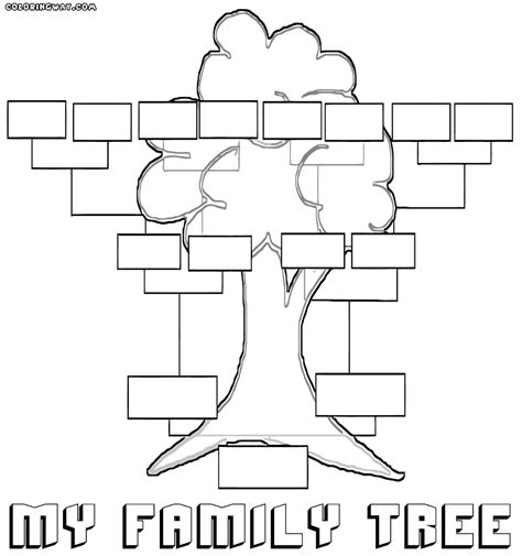 printable family tree pages family tree coloring pages coloring pages to download