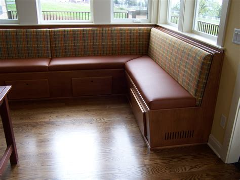 kitchen banquette bench corner breakfast nook with wood storage bench and drawer
