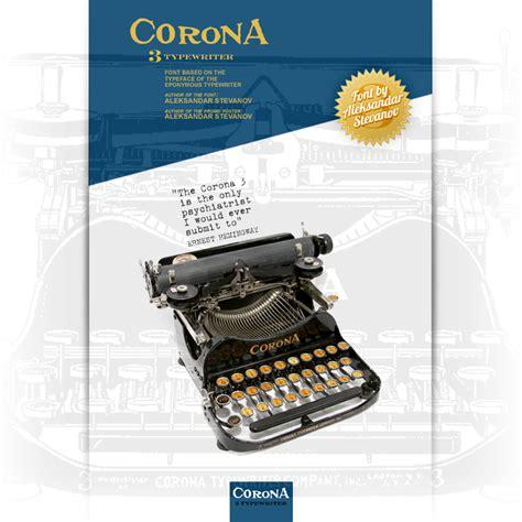 dafont typewriter corona 3 typewriter font dafont com