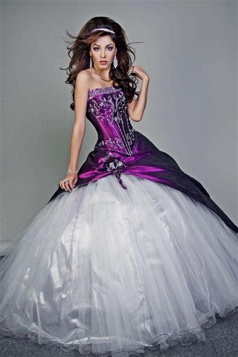Dress Purple White white and purple wedding dress naf dresses