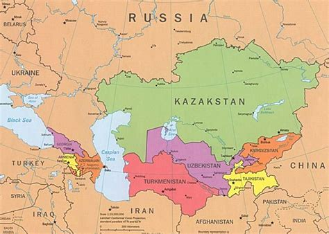 russia map and surrounding countries map of iran and neighboring countries