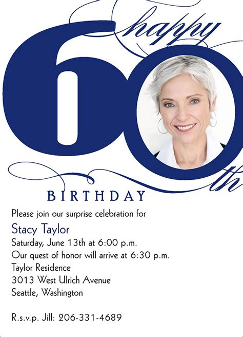 60th birthday invites free template 60th birthday invites free printable birthday invitation
