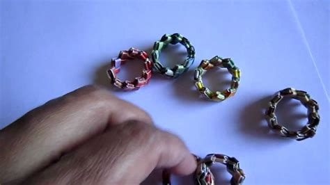 How To Make Paper Ring - handmade candywrap paper ring
