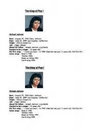 english worksheets michael jackson 180 s biography english worksheets mj 180 s biography