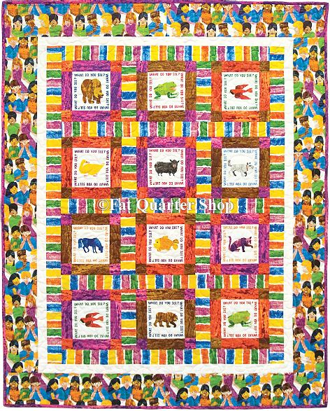 what patterns or trends do you see free quilt pattern brown bear what do you see free quilt