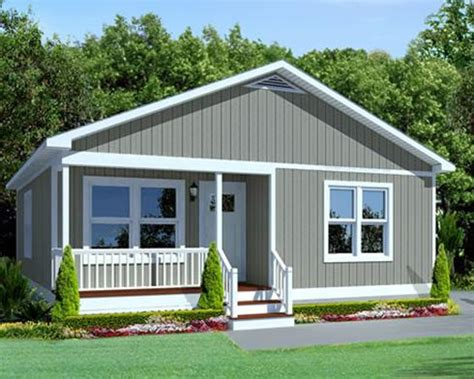home remodeling small manufactured home with gray wall