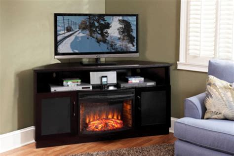 corner entertainment center fireplace aragon corner electric fireplace entertainment center in