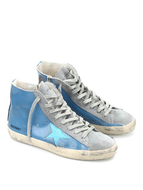 golden goose francy high top sneakers francy high top leather sneakers by golden goose
