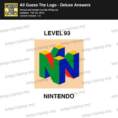 Guess My Guess Logo all guess the logo deluxe answers iplay my page 2