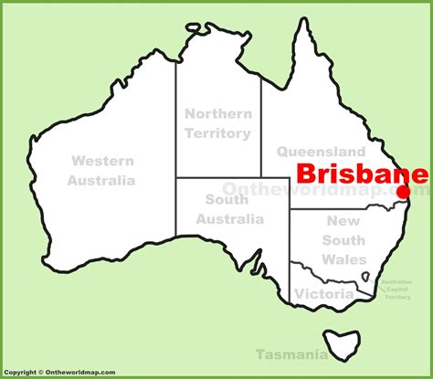 map world brisbane brisbane location on the australia map