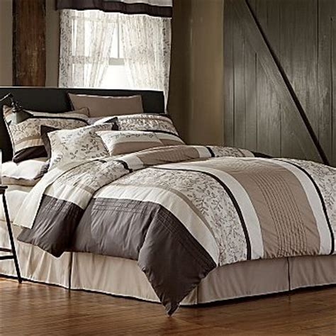 jc penny comforter sets ls embroidered leaves 20 piece comforter set jcpenney