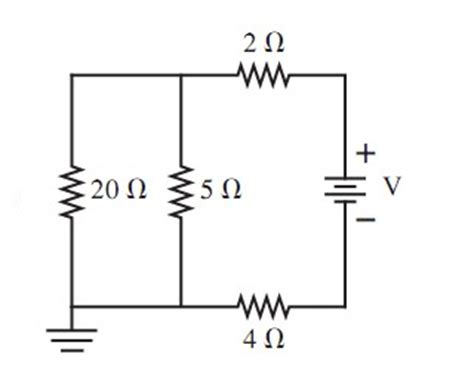 when a 20 ohm resistor is connected across the terminals what is the current through the 20 ohm resistor in chegg