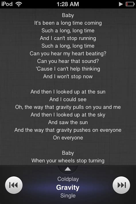 coldplay gravity lyrics coldplay gravity music pinterest coldplay gravity