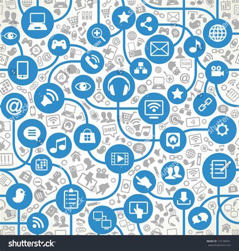 network pattern en français seamless vector background icons social computer stock