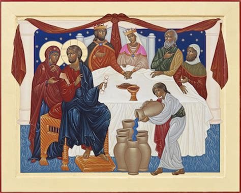 Wedding Feast At Cana Epiphany by Eyekons Gallery Nicholas Markell Portfolio Icons And