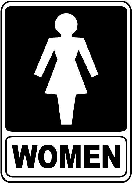 female bathroom sign image women restroom sign f4916 by safetysign com