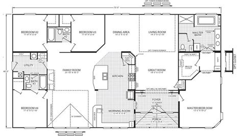 triple wide floor plans 1000 ideas about mobile home floor plans on pinterest
