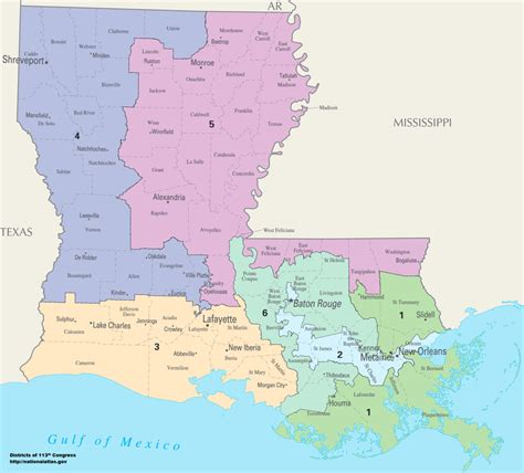 louisiana house map louisiana s congressional districts