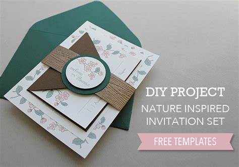 Nature Inspired Wedding Invitation Set Invitation Band Template