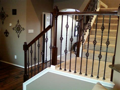 banisters and spindles iron balusters double basket stair wrought iron baluster