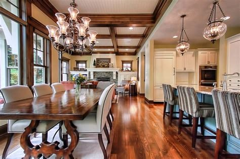 traditional dining room kitchen open floor plan gallery and open floor plan traditional dining room other metro