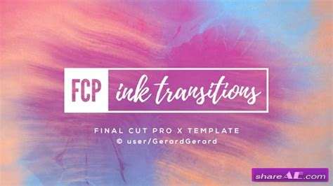 after effects templates to fcpx videohive ink transitions fcpx 187 free after effects