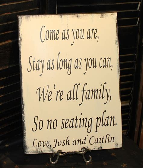 wedding seating signs wedding signs reception tables seating plan quot come as you are stay