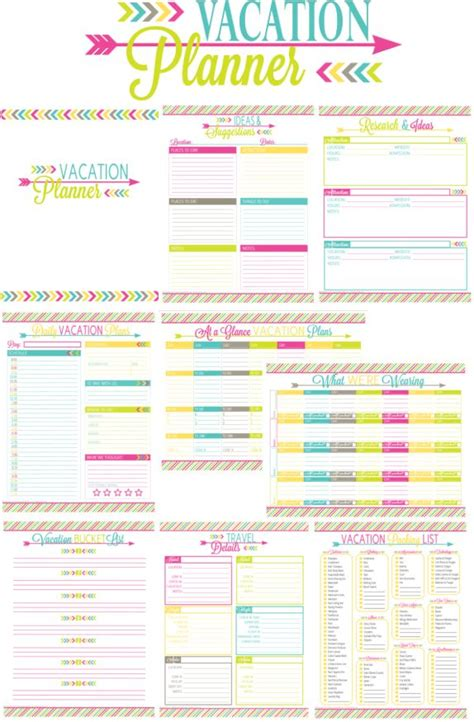 printable disney holiday planner printable vacation planner for the love of travel