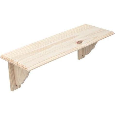 Wall Mounted Wooden Shelf by New Wood Wooden Shelf Storage Unit Stand Kit Fittings Wall Mounted Ebay