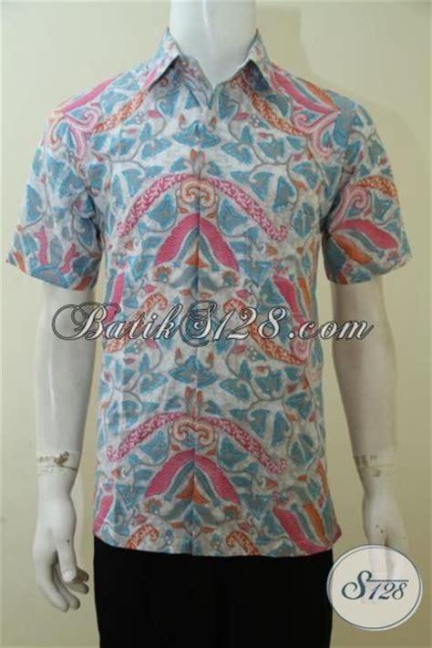 membuat desain baju online pakaian batik cowok warna keren berpadu dengan desain