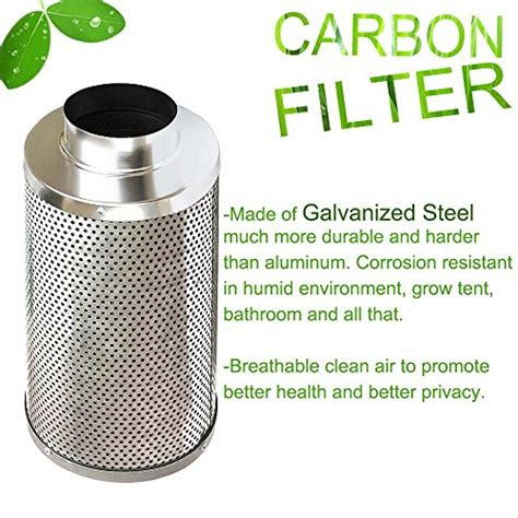 Activated Carbon Air Filter For Grow Room by Amagabeli 6 Inch Carbon Filter For Indoor Plants Grow Room