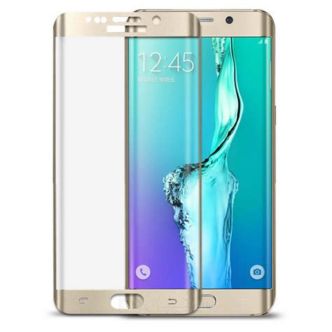 S7 Flat Tempered Glass Color Edge Gold Color 100 Premium 1 glass screen guard for samsung galaxy s7 edge golden