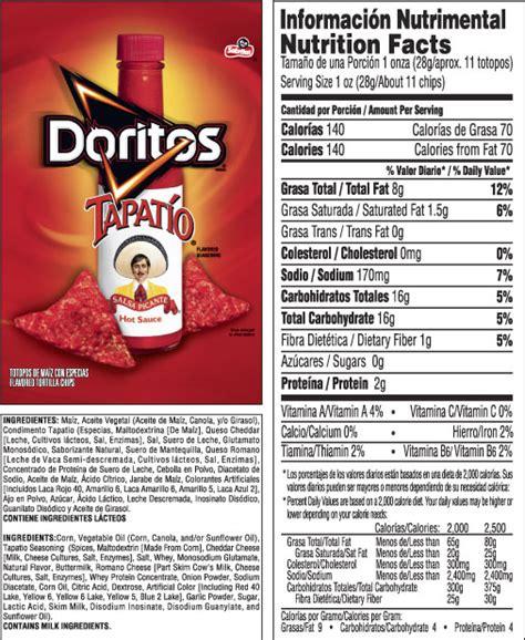 doritos 174 tapatio 174 flavored tortilla chips