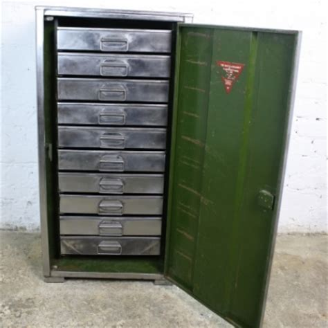 Vintage Metal File Cabinet Vintage Stripped Metal Filing Cabinet With 10 Inner Trays Lovely And Company