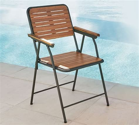 Pottery Barn Folding Chairs tolland metal wood folding chair pottery barn