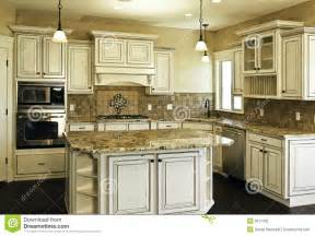 Custom Kitchen Island Plans large new modern white kitchen royalty free stock photo