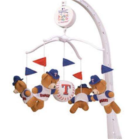 Baseball Mobile For Crib by Rangers Baseball Musical Crib Mobile Findgift