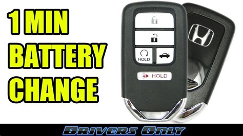 honda key fob battery change smart key remote  accord civic crv pilot odyssey