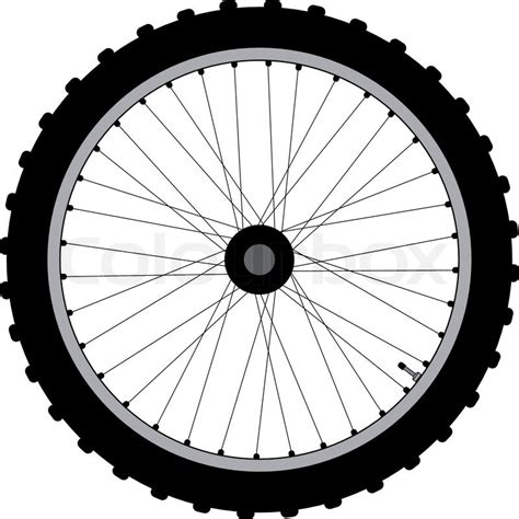 Bicycle Wheel Outline by Quot Typical Bicycle Wheel Isolated On White Quot Stock Vector Colourbox
